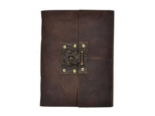 New Antique New Design Brass Lock Leather Journal Handmade Diary & Notebook